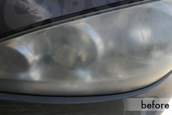Faded headlight