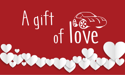 Mobile Auto detailing Gift Card Love Theme